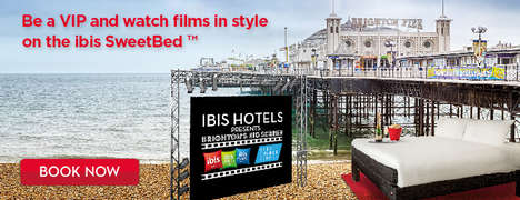 Sports Spectator Beds - ibis Hotels' 'SweetBed' Provides a View of Brighton's Big Screen