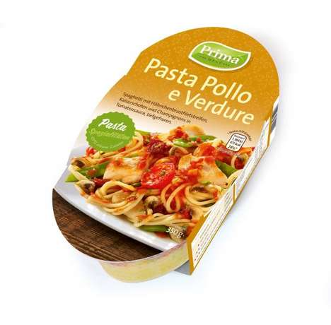 Ready-Made Pasta Meals - These Deep-Frozen Pasta Meals are Pre-Dressed with Meat and Sauce