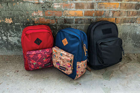Graffiti-Inspired Backpacks - This Jansport Backpack Design is Patterned with Street Art
