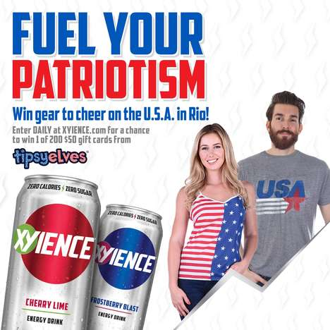 Patriotic Drink Campaigns - This Summer, XYIENCE is Fueling Patriotism in American Consumers