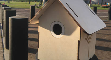 Wifi-Giving Air Monitors - The Smart Bird House Provides Free Internet When Air Quality Improves