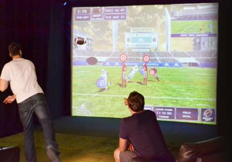 Virtual Football Simulators - The SwingTrack Mobile Gave Fans an Interactive Grey Cup Experience