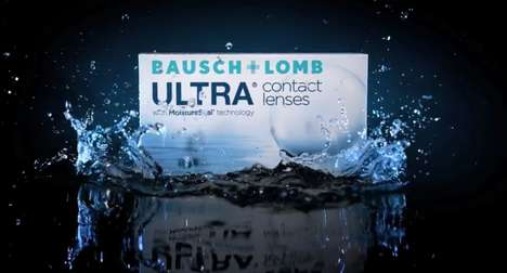 Tech-Focused Contact Lenses - The Bausch + Lomb Ultra Contacts Hydrate and Reduce Strain