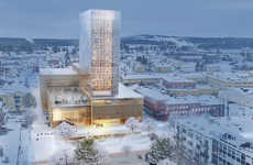Wood-Framed High-Rises - This Swedish Architecture Firm Will Design a Cultural Center with Wood