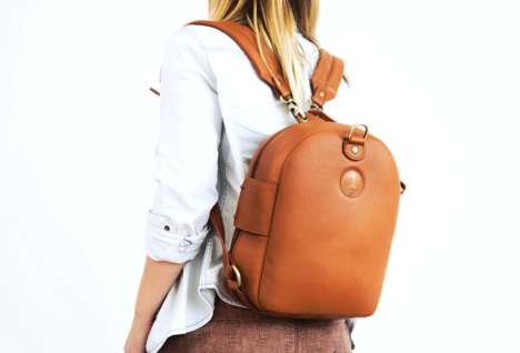 Versatile Leather Backpacks