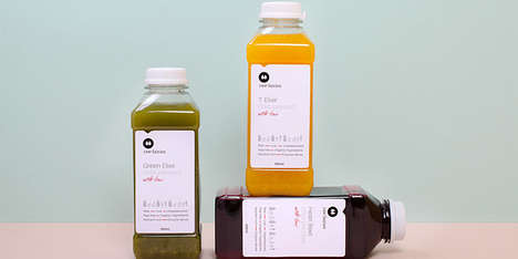 Medicinal-Like Juice Labels - Raw Fairies Offers Londoners One of the Purest Juice Cleanses