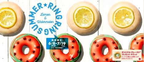 Punny Summer Donut Menus