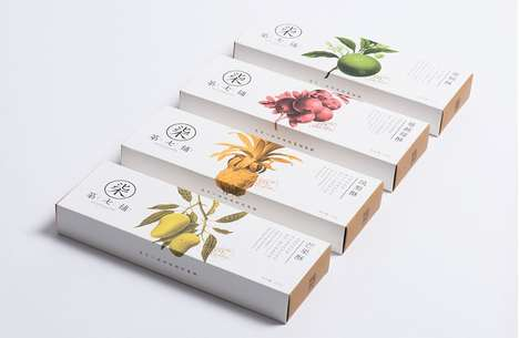 Exotic Pie Packaging - The 7th Store Pineapple Pie Branding Features Tropical Fruit Imagery