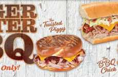 Spicy Sub Shop Menus - Blimpie's New BBQ Subs are Inspired by the Grilling Season