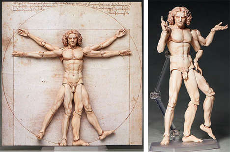 Classic Artwork Action Figures - The Vitruvian Man Action Figure Brings a Classic Image to Life