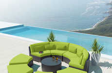 Rotunda-Inspired Furniture - The Mondavi by Uduka 9-Piece Outdoor Sectional Sofa is Stylish