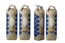 Old World Rice Packaging - Qian`s Gift Organic Rice is Sold in Hand-Stamped Paper Bags