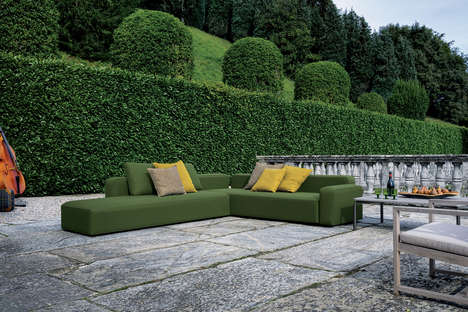 Versatile Outdoor Sofas - The 'Dandy Sofa' Provides Modular Outdoor Seating
