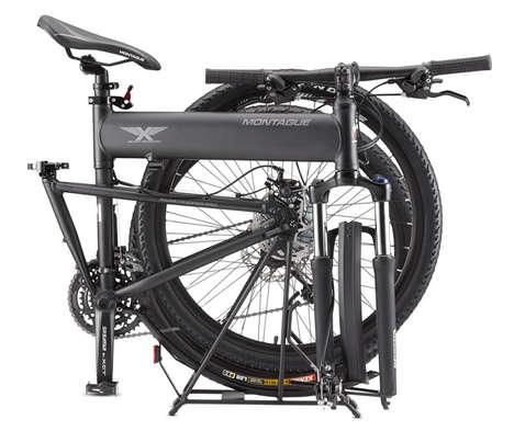 Shock-Absorbing Mountain Bikes