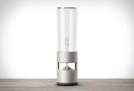 Illuminating Glass Speakers