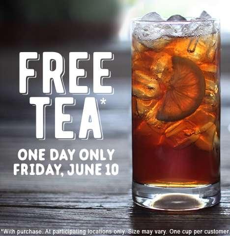 Celebratory Iced Tea Giveaways