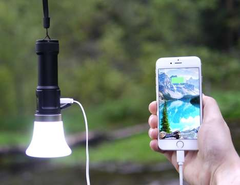 Device-Charging Flashlights