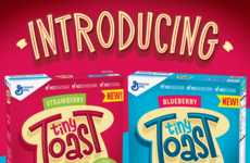 Toast-Shaped Breakfast Cereals - 'Tiny Toast' is a Healthy Cereal with Miniature Toast-Shaped Pieces