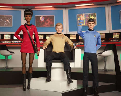 Anniversary Intergalactic Action Figures - The Mattel Star Trek Series Dolls Celebrate the Franchise