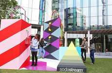 Drink-Dispensing Sculptures - SodaStream's Interactive Artwork 'Let's Play' Gives Out Beverages