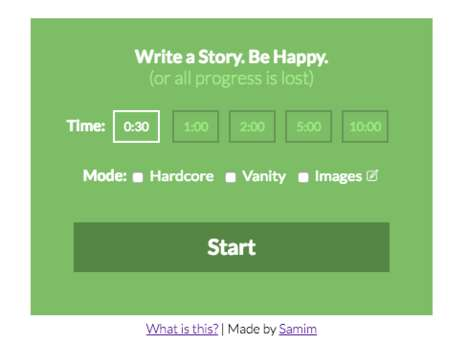 Mood-Based Writing Apps - The 'Don't Worry Be Happy' App Deletes Text If the Author is Unhappy