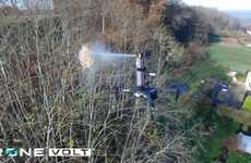 Insecticide-Spraying Drones - The Drone Spray Hornet Locates and Demolishes Hornet Nests