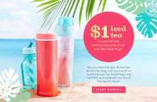Thirst-Quenching Tea Promotions - DAVIDsTEA's Travel Mug Promotion Celebrates National Iced Tea Day