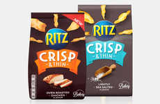 Shareable Cracker Packaging - The New Ritz Crisp & Thin Packets are Meant to Facilitate Sharing