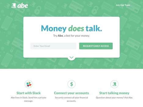 Chatbot Finance Apps - 'Abe' Offers Finance Tracking Capabilities Through Real-Time Chat