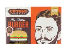Meatless Eggplant Burgers - The 'Classic Burger' by Upton's Naturals is Entirely Plant-Based