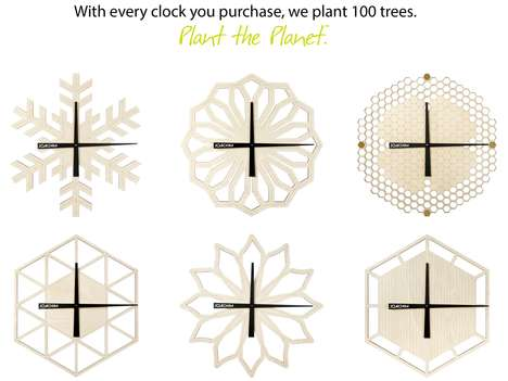 Forest-Supporting Wooden Clocks