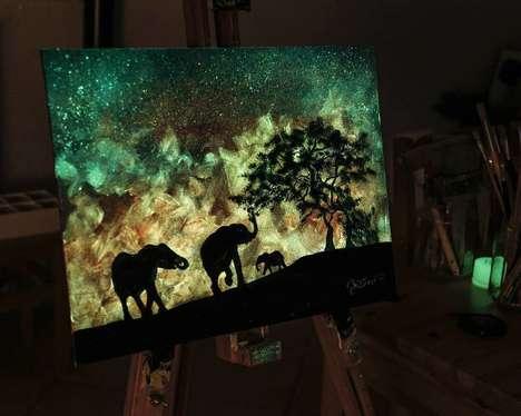 Glow-In-The-Dark Paintings