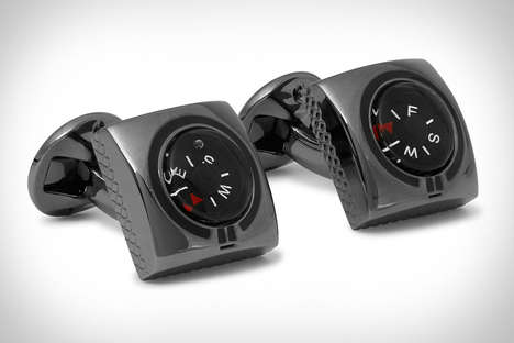 Directional Compass Cufflinks