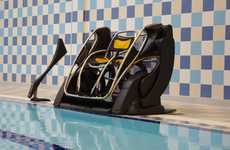 Swimming Aide Pods - The PoolPod Helps Those with Injuries or Disabilities Enter and Exit Pools