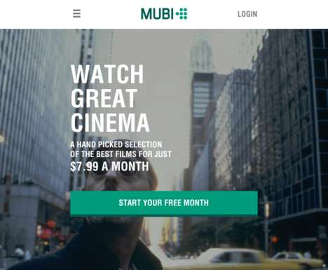 Curated Streaming Services - 'Mubi' is a Streaming Service That Shows 30 Independent Films a Month