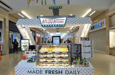 Box-Shaped Donut Kiosks - The New Krispy Kreme Stores are Designed to Look Like a Box of Donuts