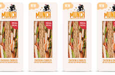 See-Through Sandwich Packaging - 'Munch' Prepared Sandwiches will Be in Airports and Stations