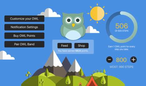 Gamified Youth Fitness Apps - The Owl Fitness Tracker is Designed to Turn Exercise into a Game