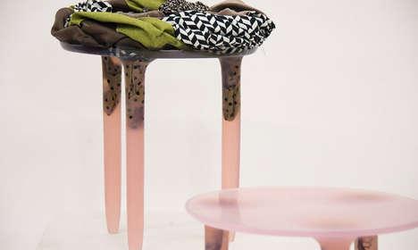 Upcycled Textile Stools
