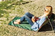 Supportive Lounge Chair Mats - The Meadow Rest Portable Chair Seat Provides a Lounge Anywhere