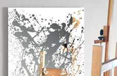 Splattered Metallic Mirror Artwork