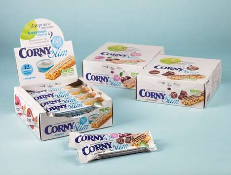 Healthy Low-Calorie Breakfast Bars - The Corny Slim Breakfast Bars Offer Convenient Nutrition