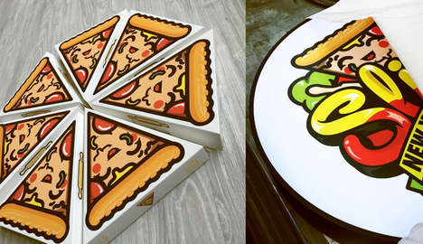 Cartoonish Pizza Boxes - This Pizza Box Design Shows Off an Animated Korean Mascot