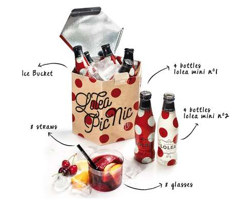Picnic Cooler Packages - This Sangria Lolea Box Design Works as a Portable Ice Bucket