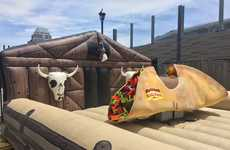 Mechanical Taco Rides - Toronto's 'Taco Fest' Features a Rideable 'Taco Bull' by Old El Paso