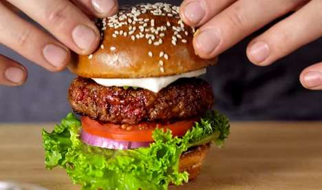 Upscale Simulated Meat Burgers