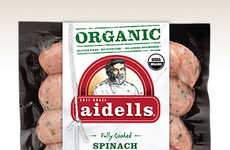 Organic Dinner Sausages - Aidell's Organic Chicken Sausages are Blended with Fruits and Vegetables