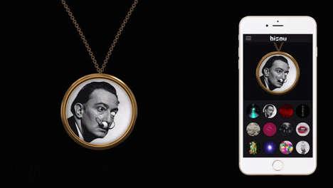 Digital Necklace Faces