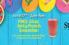 Footwear-Specific Smoothie Giveaways - This Promotion Celebrates National Flip Flop Day