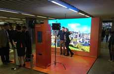 Airport GIF Stations - Easyjet and Stansted Airport Set Up a Real-Time Departure Board at a Subway